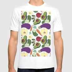 vegetables White Mens Fitted Tee MEDIUM