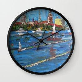 Expression Rīga, Latvia Wall Clock