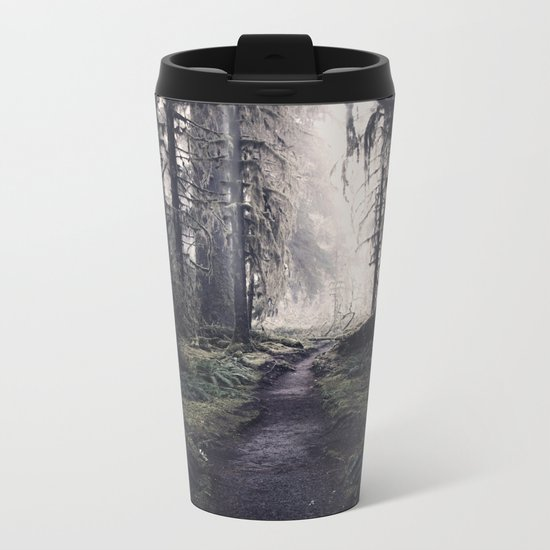 Magical Washington Rainforest Metal Travel Mug