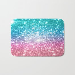 Mermaid Galaxy Sparkle Stars Bath Mat