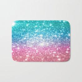 Mermaid Galaxy Sparkle Stars Bath Mat