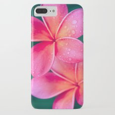 Aloha Hawaii Kalama O Nei Pink Tropical Plumeria iPhone 7 Plus Slim Case