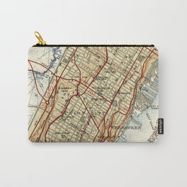 Weehawken, Union City & West New York Map (1935) Carry-All Pouch