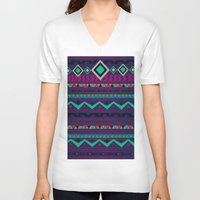 native V-neck T-shirts featuring Native by Nika
