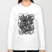 tangled Long Sleeve T-shirts featuring tangled by Dan Garzi