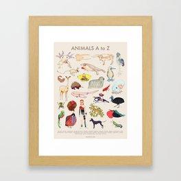 Bizarro Animals - A to Z Framed Art Print