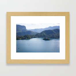 Lake Bliss Framed Art Print