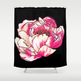 Bright Peony Shower Curtain
