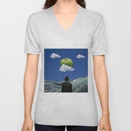 Apple Magritte Unisex V-Neck
