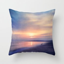 Calm Sea - Abstract Seascape at Sunset Throw Pillow