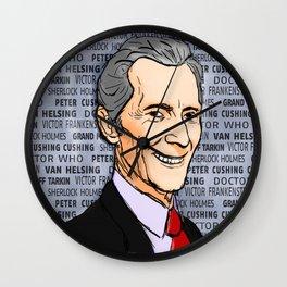 Peter Cushing Wall Clock