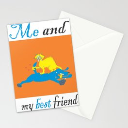 Funny story about me and my best friend Stationery Cards