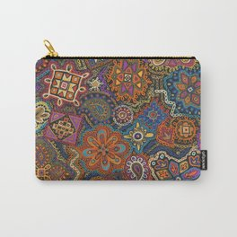 Crewel Jewel Floral by Nettie Heron-Middleton Carry-All Pouch