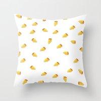 pie Throw Pillows featuring pie by Winnie draws