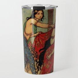The ordeal of Queen Draupadi Travel Mug