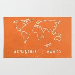 Adventure Map - Retro Orange Rug