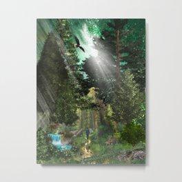 Forest Wisdom Metal Print