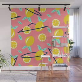 Lemons party #society6 #decor #buyart Wall Mural