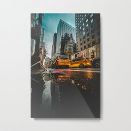 Manhattan Taxi Metal Print