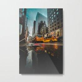 Manhattan Taxi Metal Print
