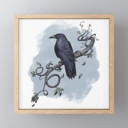 Carrion Crow Framed Mini Art Print