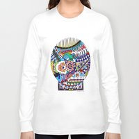 john snow Long Sleeve T-shirts featuring Snow Globe by JOHN RUSSELL ABSTRACTS