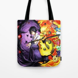 sasuke and naruto Tote Bag