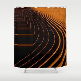 orange lines and shapes Shower Curtain