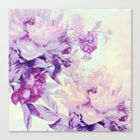 pastel Canvas Prints featuring pastel bouquet by clemm