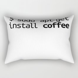 Linux Shirt Sudo Apt-Get Coffee Funny Tech Humor Unix Shirt Rectangular Pillow