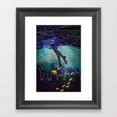 Midnight Swim Framed Art Print