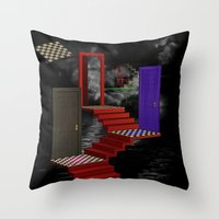 nightmare Throw Pillows featuring nightmare by Ancello