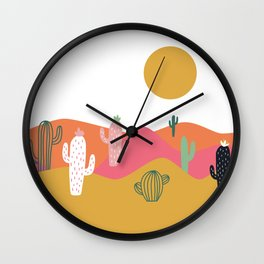 Bright Desert Day Wall Clock
