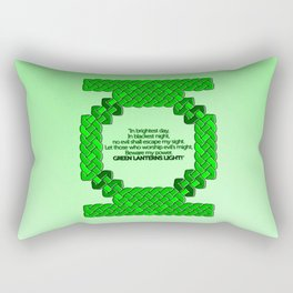 Green Lantern Symbol & Oath Rectangular Pillow