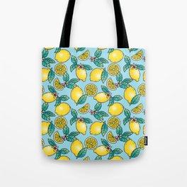 Tropical Vibe Lemon Pattern Tote Bag