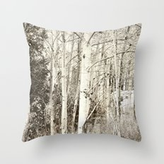 She Was a Trailer Park Girl at Heart - B&W Throw Pillow