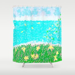 YELLOW NARISSI Shower Curtain