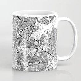 Mexico City White Map Coffee Mug