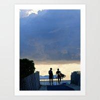 Sunrise at South Beach Art Print