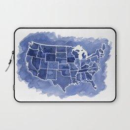 Watercolor Map of America Laptop Sleeve