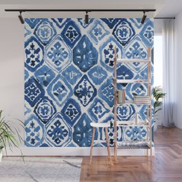 Arabesque tile art Wall Mural