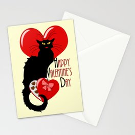 Le Chat Noir with Chocolate Candy Gift Stationery Cards