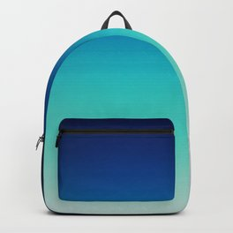 Blue Gray Black Ombre Backpack