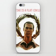 Time Is A Flat Circle iPhone & iPod Skin