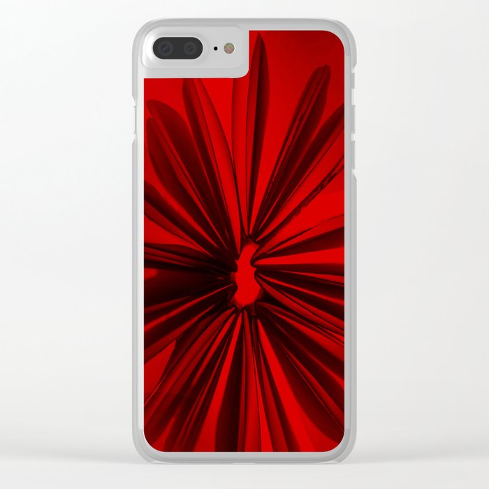 Red Origami Flowers #decor #society6 Clear iPhone Case