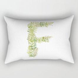 Initial F Rectangular Pillow