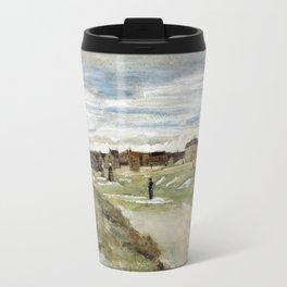 1882-Vincent van Gogh-Bleaching Ground at Scheveningen-32x54 Travel Mug