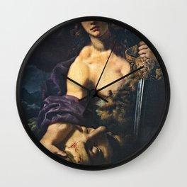 Alessandro Rosi - David Holding the Head of Goliath (1670s) Wall Clock