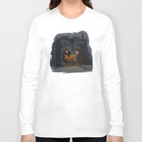hallion Long Sleeve T-shirts featuring The Witch in the Fireplace by Karen Hallion Illustrations