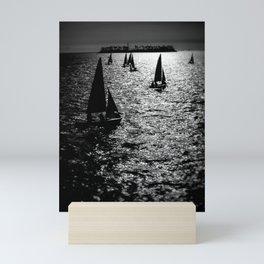Sailing Silhouettes Mini Art Print